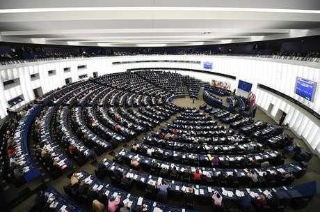 Plenário do Parlamento Europeu, em Estrasburgo, na França