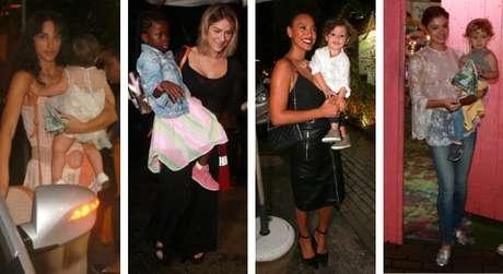 Famosas na festa de aniversário da filha de Débora Nascimento e José Loreto (Fotos: Dilson Silva/AgNews)