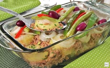 Bacalhoada com atum? Uma mistura deliciosa!