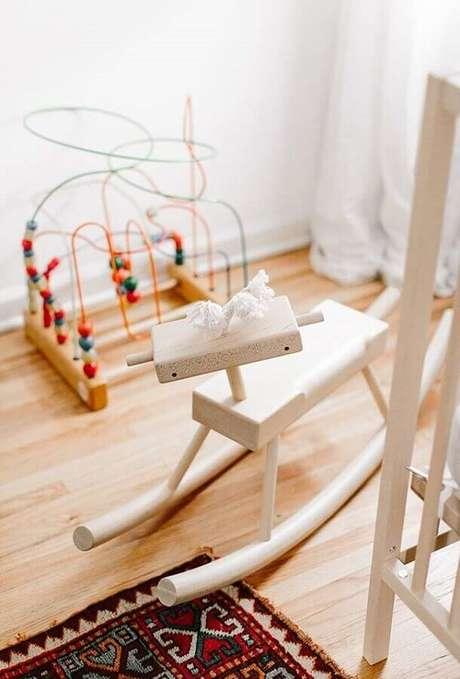 14. A cadeira de balanço infantil é uma grande diversão para todas as crianças – Foto: Zozu
