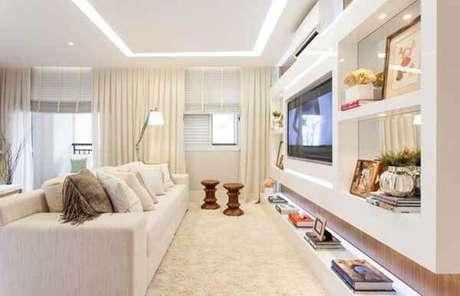 19- Os modelos de cortinas podem ser combinadas com tecidos e persianas. Fonte: Sesso & Dalanezi