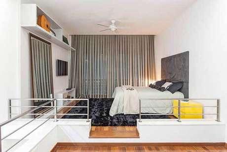 59- Os modelos de cortinas para quarto devem ter a cor predominante na decoração do ambiente. Fonte: Laura Santos