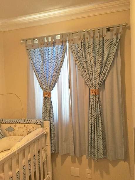 5- Os modelos de cortinas para quartos infantis podem ser estampados e delicados. Fonte: Mundo Afeto