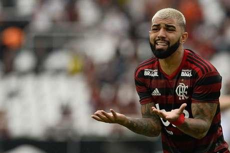 Gabigol durante partida entre Flamengo e Vasco, em jogo válido pela 1ª partida da final do Campeonato Carioca de 2019, realizado no Estádio do Engenhão