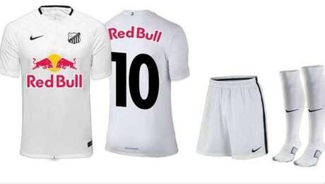 Uniforme que será utilizado pelo Bragantino na Série B após o acordo com o Red Bull Brasil