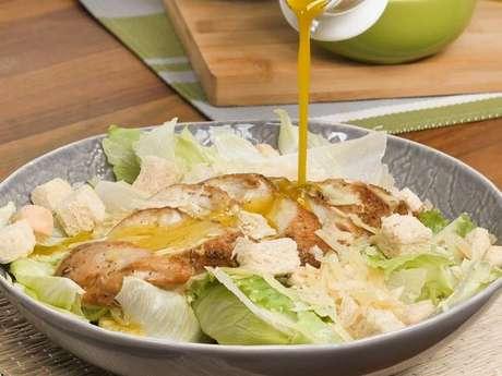 Salada verde com frango