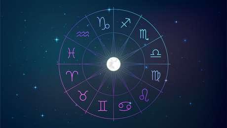 Signos do zodíaco no céu noturno