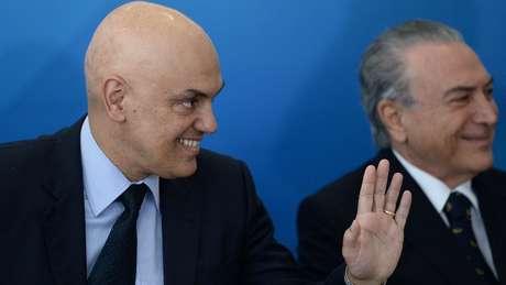 Alexandre de Moraes, que conduz o inquérito, foi o escolhido de Temer para vaga no STF
