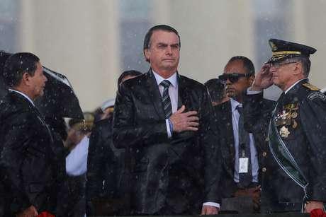 Presidente Jair Bolsonaro participa de cerimônia em homenagem ao Dia do Exército  17/04/2019 REUTERS/Adriano Machado