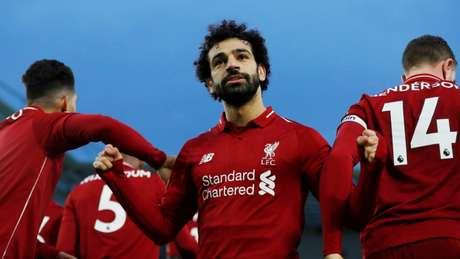 Salah é um dos grandes símbolos atuais do Liverpool e vive grande fase (Foto: Reprodução/Premier League)