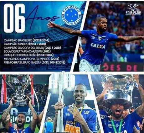Dedé está na Toca da Raposa desde 2013 e superou diversas lesões para marcar seu nome na história do Cruzeiro- Foto: Reprodução