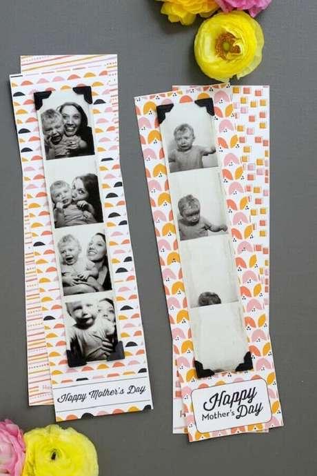 36- Na decoração dia das mães, fotos engraçadas dos filhos são colocadas sobre a mesa. Fonte: IdeiasDecor