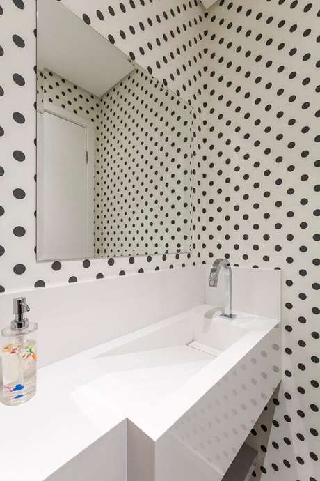 2. Saiba como escolher o espelho ideal para o seu lavabo – Foto: Idealizzare Arquitetos
