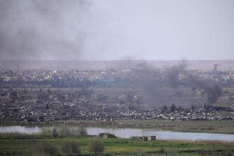 Imagem da região de Baghouz, na Síria. 20/3/2019. REUTERS/Rodi Said/