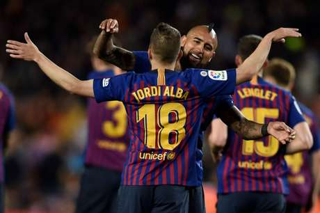 Jordi Alba marcou o gol da nova vitória do Barcelona no Campeonato Espanhol (Foto: AFP)