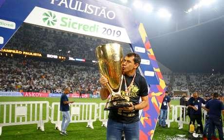 Fábio Carille é o segundo técnico da história do Corinthians a ser tricampeão Paulista (Foto: Luis Moura / WPP)