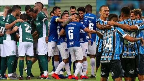 Goiás, Cruzeiro e Grêmio estão entre os destaques deste início de 2019 (Foto: Montagem/Goiás/Cruzeiro/Grêmio)