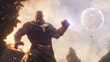 Thanos, vilão dos filmes mais recentes de Vingadores