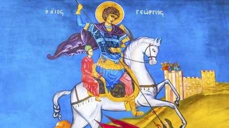 São Jorge é tido como uma figura glamurosa com uma lenda que reflete valores ingleses