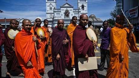 A maioria da população do Sri Lanka é budista