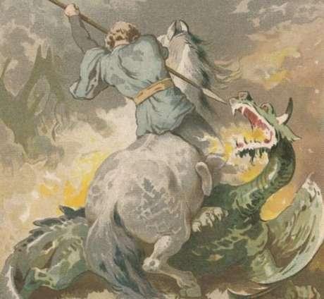 Jorge teria prometido ao rei que mataria o dragão caso todos fossem batizados na Líbia