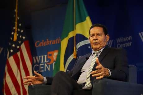 Vice-Presidente da República, Hamilton Mourão durante evento