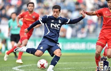 Wesley Alex já balançou as redes três vezes em 2019 pelo time coreano (Foto: Divulgação)