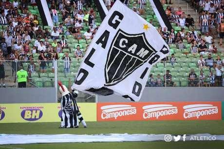 O Galo vai estrear no Brasileiro no Independência por uma agenda de shows que acontecerão no Mineirão- Foto: divulgação/Atlético-MG