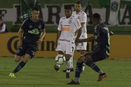 No duelo de ida, Chapecoense venceu o Corinthians por 1 a 0 (Foto: Daniel Augusto Jr/Ag. Corinthians)