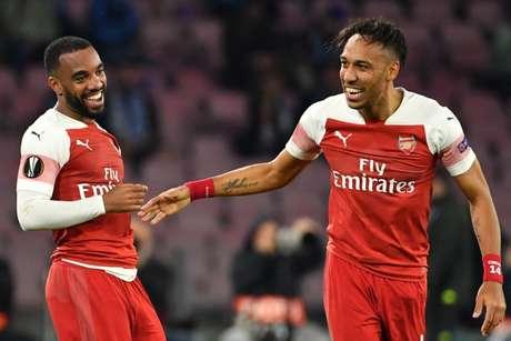 Lacazette e Aubameyang são as apostas do Arsenal (Foto: Divulgação/Twitter Europa League)