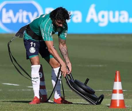 Camisa 11 tem programa físico particular e deve jogar só domingo, contra Fortaleza (Agência Palmeiras/Divulgação)