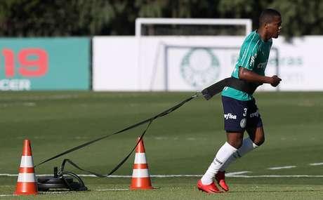 Carlos Eduardo está completamente recuperado de entorse no tornozelo direito (Agência Palmeiras/Divulgação)