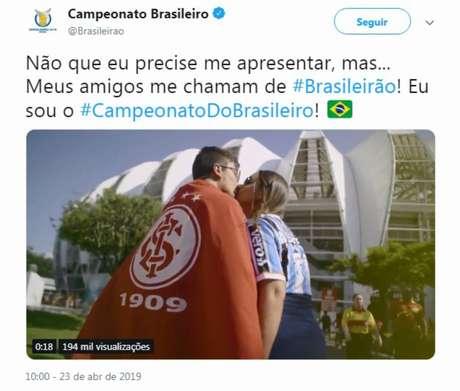 Chamada do Brasileirão ignorou alguns clubes tradicionais, o que gerou revolta (Foto: Reprodução)