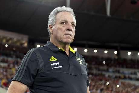 Técnico Abel Braga durante Flamengo x Peñarol realizada no Maracanã pela Copa Libertadores