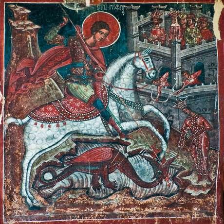 São Jorge em seu cavalo branco