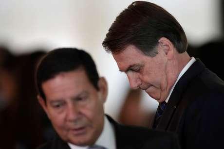 Presidente Jair Bolsonaro e vice-presidente Hamilton Mourão 28/03/2019 REUTERS/Ueslei Marcelino
