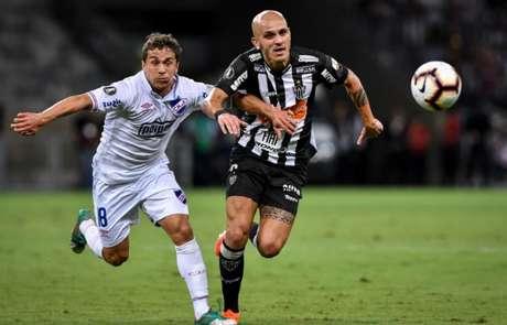 A equipe mineira não conseguiu se impor no jogo e não superou a forte marcação uruguaia- Bruno Cantini/Atlético-MG