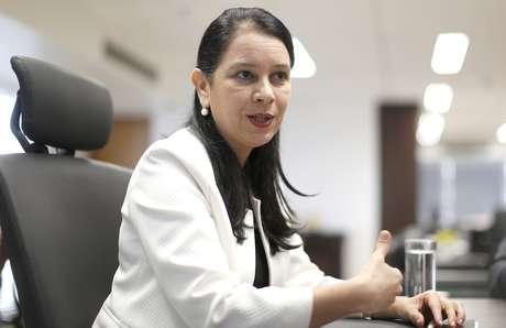 A ex-ministra da Advocacia Geral da União, Grace Mendonça, concede entrevista na sede da AGU, em Brasília
