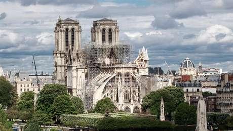 Visão geral da Catedral de Notre Dame