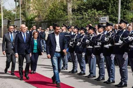 Matteo Salvini inaugura delegacia em Corleone, na Sicília