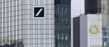 Prédios do Deutsche Bank e do Commerzbank em Frankfurt
