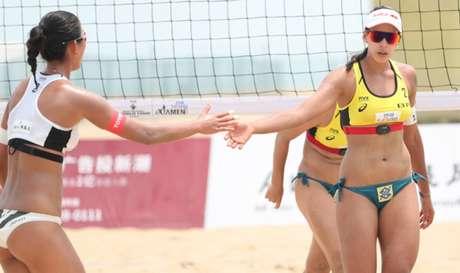 Ágatha e Duda avançaram na etapa de Xiamen (Foto: Divulgação/FIVB)