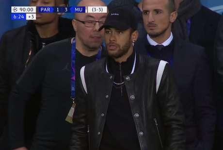 Neymar foi punido com três jogos pela Uefa e só disputa a próxima UCL a partida da quarta rodada (Reprodução)