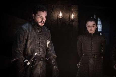 Kit Harington e Maisie Williams em 'Game of Thrones'