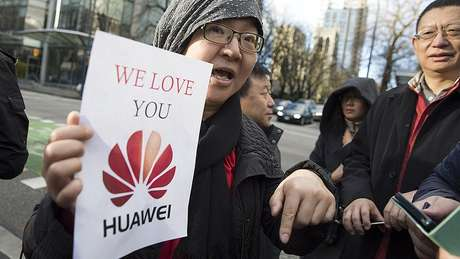 Huawei received public demonstrations of support from Chinese