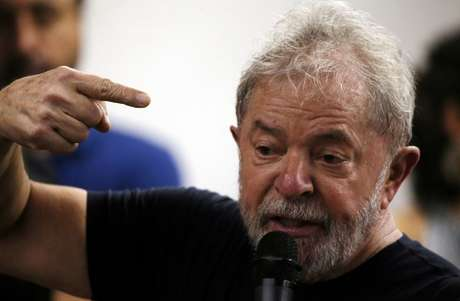 Ex-presidente Lula durante evento em São Paulo, em 2018