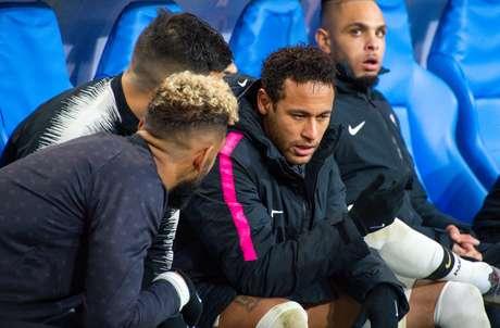 Neymar durante a final da Copa da França, Paris Saint-Germain perdeu para o Rennes nos pênaltis