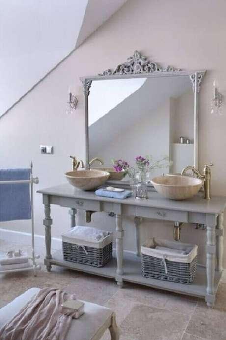 3. A grande vantagem do espelho provençal é que ele se encaixa em vários estilos de decoração – Foto: Interior God