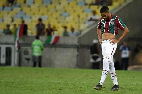 Everaldo, do Fluminense, durante partida entre Fluminense x Goiás , válida pela 1° rodada do Campeonato Brasileiro 2019, realizada no Estádio Jornalista Mário Filho (Maracanã)
