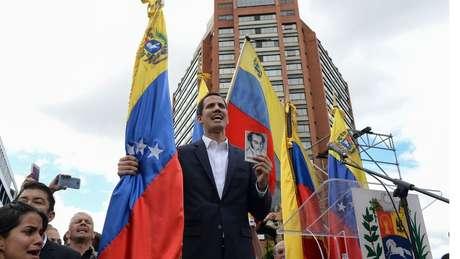 O líder oposicionista Juan Guaidó se proclamou o novo presidente interino da Venezuela